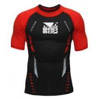 Κοντομάνικη Μπλούζα - Bad Boy Sphere compression top Rashguard - Κόκκινο/Μαύρο
