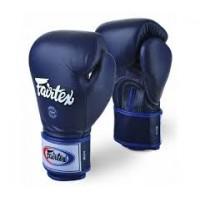 Γάντια Fairtex 10oz Premium  blue leather Muay Thai