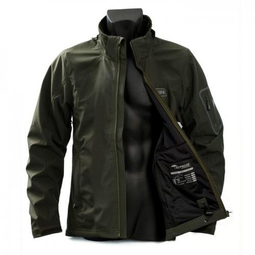 Jacket - Soft-shell Magnum Tactical WP - Μαύρο & Λαδί Μπουφάν - Jacket