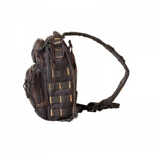 Mini Molle Shoulder Bag-Black/Orange
